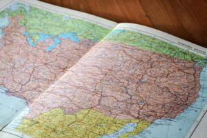 mapa estados unidos con méxico