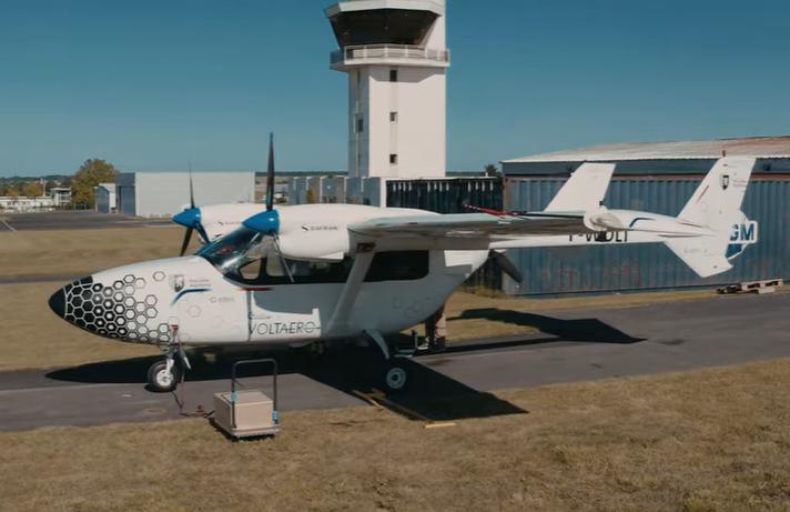avión eléctrico híbrido